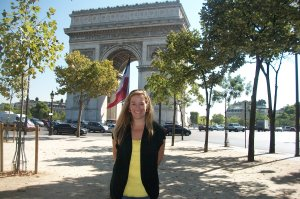 Here I am last year posing in front of the Arc de Triomphe in Paris.