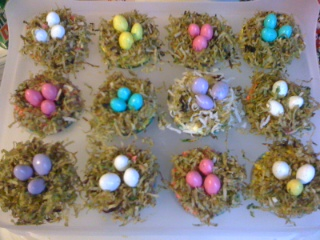 birdnest cupcakes